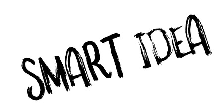 Smart idea rubber stamp. Stock fotó - 88283809