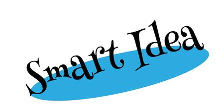 Smart idea rubber stamp. Stock fotó - 88283811
