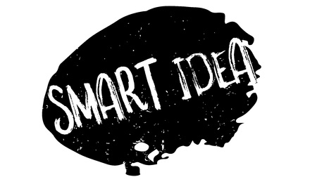 Smart idea rubber stamp.