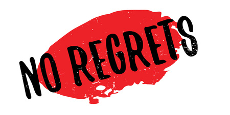 No Regrets rubber stamp. Illustration