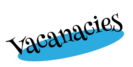Vacanacies rubber stamp. Grunge design with dust scratches. Effects can be easily removed for a clean, crisp look. Color is easily changed. Stock Photo