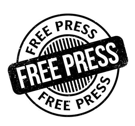 Free Press rubber stamp. Grunge design with dust scratches. Effects can be easily removed for a clean, crisp look. Color is easily changed. Illustration