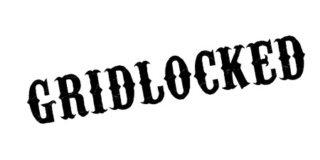 Gridlocked rubber stamp. Grunge design with dust scratches. Effects can be easily removed for a clean, crisp look. Color is easily changed. Illustration