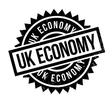 UK Economy rubber stamp. Grunge design with dust scratches. Effects can be easily removed for a clean, crisp look. Color is easily changed.