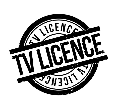 TV Licence rubber stamp. Grunge design with dust scratches. Effects can be easily removed for a clean, crisp look. Color is easily changed. Banco de Imagens - 88329651