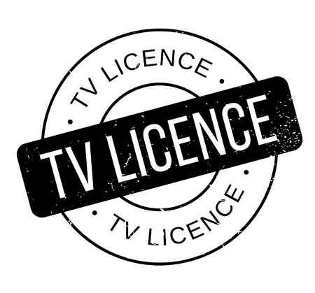 TV Licence rubber stamp. Grunge design with dust scratches. Effects can be easily removed for a clean, crisp look. Color is easily changed. Banco de Imagens - 88329837