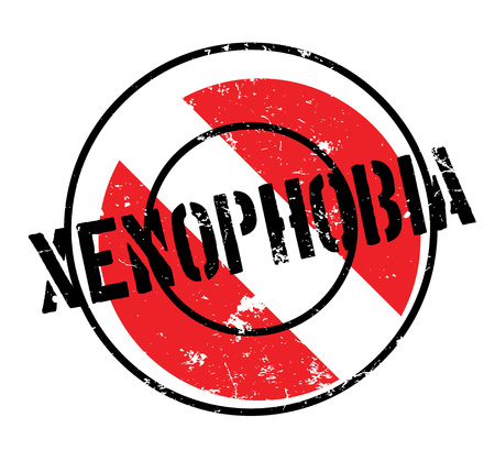 Xenophobia rubber stamp. Grunge design with dust scratches. Effects can be easily removed for a clean, crisp look. Color is easily changed. Vectores