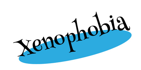 Xenophobia rubber stamp. Grunge design with dust scratches. Effects can be easily removed for a clean, crisp look. Color is easily changed. Illustration