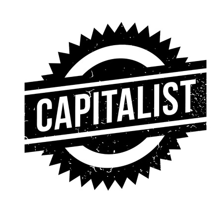 Capitalist rubber stamp. Grunge design with dust scratches. Effects can be easily removed for a clean, crisp look. Color is easily changed.