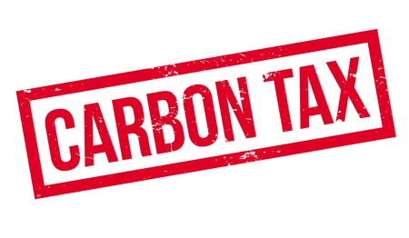 Carbon Tax rubber stamp. Grunge design with dust scratches. Effects can be easily removed for a clean, crisp look. Color is easily changed. Иллюстрация
