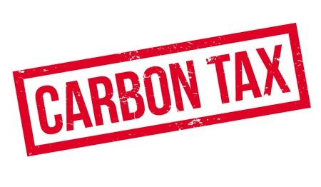 Carbon Tax rubber stamp. Grungeontwerp met stofkrassen. Effecten kunnen eenvoudig worden verwijderd voor een schone, heldere look. Kleur is gemakkelijk te veranderen.