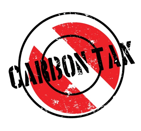 Carbon Tax rubber stamp. Grunge design with dust scratches. Effects can be easily removed for a clean, crisp look. Color is easily changed. Illustration