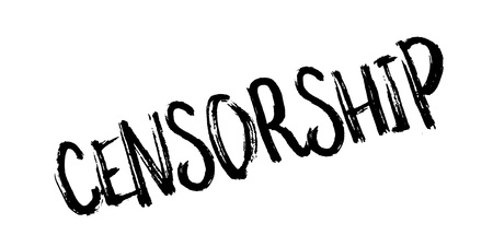 Censorship rubber stamp. Grunge design with dust scratches. Effects can be easily removed for a clean, crisp look. Color is easily changed. Illustration