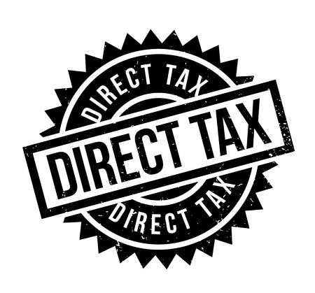 Direct Tax rubber stamp. Grunge design with dust scratches. Effects can be easily removed for a clean, crisp look. Color is easily changed.