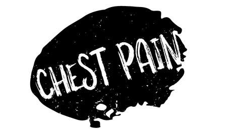Chest Pain rubber stamp. Grunge design with dust scratches. Effects can be easily removed for a clean, crisp look. Color is easily changed. Illustration