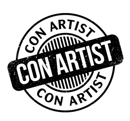 Estampilla de goma Con Artist Diseño de Grunge con rayas de polvo. Los efectos se pueden eliminar fácilmente para una apariencia limpia y nítida. El color se cambia fácilmente.