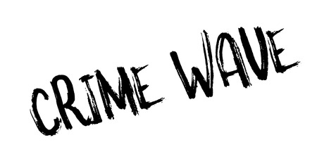 Crime Wave rubber stamp. Grunge design with dust scratches. Effects can be easily removed for a clean, crisp look. Color is easily changed.