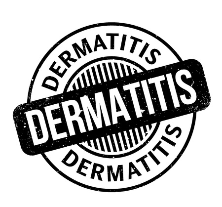 Dermatitis rubber stamp. Grunge design with dust scratches. Effects can be easily removed for a clean, crisp look. Color is easily changed.