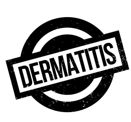 Tampon Dermatite. Conception grunge avec des rayures de poussière. Les effets peuvent être facilement supprimés pour un look propre et net. La couleur est facilement changée.