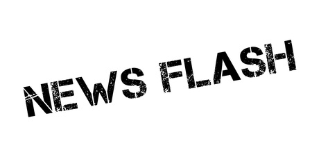 News Flash rubber stamp. Grunge design with dust scratches. Effects can be easily removed for a clean, crisp look. Color is easily changed. Stock Vector - 88503540