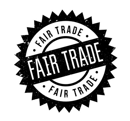 fairtrade: Fair Trade rubber stamp. Grunge design with dust scratches. Effects can be easily removed for a clean, crisp look. Color is easily changed. Illustration