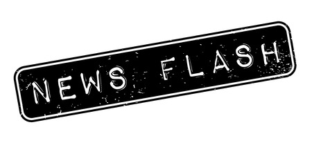News Flash rubber stamp. Grunge design with dust scratches. Effects can be easily removed for a clean, crisp look. Color is easily changed. Ilustração