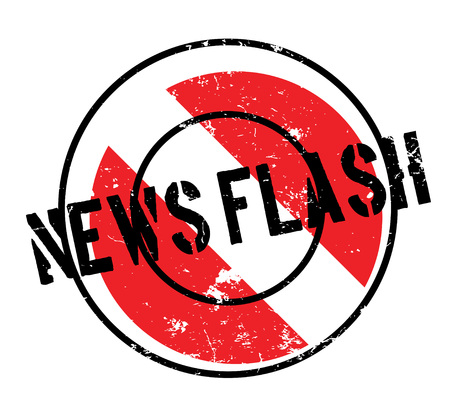 News Flash rubber stamp. Grunge design with dust scratches. Effects can be easily removed for a clean, crisp look. Color is easily changed.