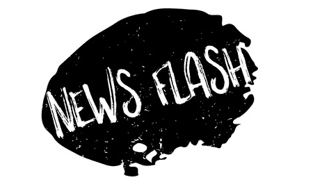 newsroom: News Flash rubber stamp. Grunge design with dust scratches. Effects can be easily removed for a clean, crisp look. Color is easily changed. Illustration