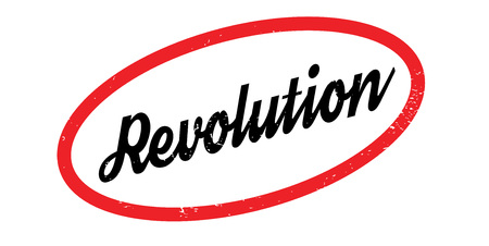 Revolution rubber stamp. Grunge design with dust scratches. Effects can be easily removed for a clean, crisp look. Color is easily changed. Illustration