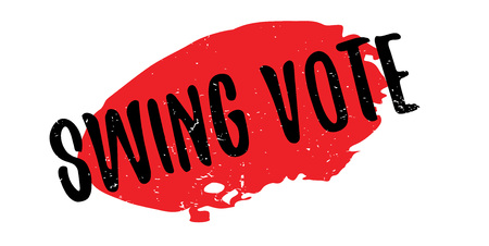 Swing Vote rubber stamp. Grunge design with dust scratches. Effects can be easily removed for a clean, crisp look. Color is easily changed.