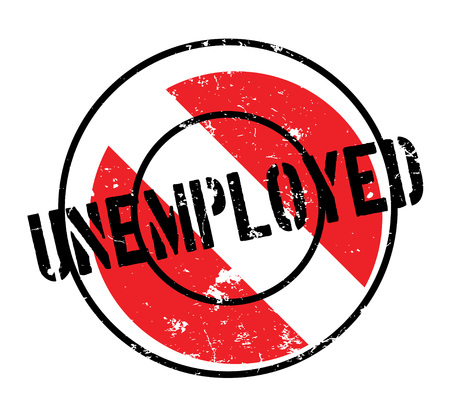 Unemployed rubber stamp. Grunge design with dust scratches. Effects can be easily removed for a clean, crisp look. Color is easily changed. Stock Vector - 88594497