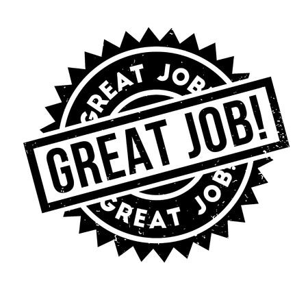 Gran sello de goma del trabajo. Diseño de Grunge con rayas de polvo. Los efectos se pueden eliminar fácilmente para una apariencia limpia y nítida. El color se cambia fácilmente. Ilustración de vector