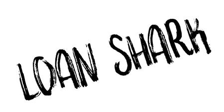 Loan Shark rubber stamp. Grunge design with dust scratches. Effects can be easily removed for a clean, crisp look. Color is easily changed.
