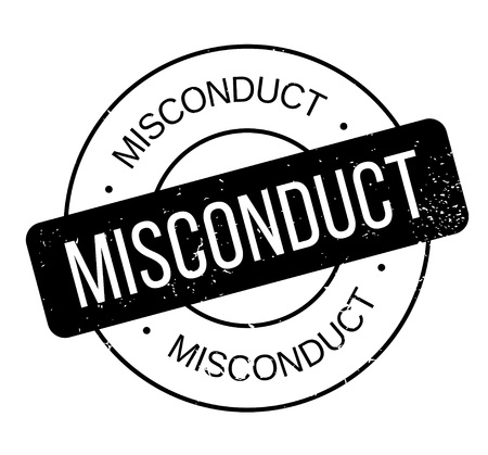 Misconduct rubber stamp. Grunge design with dust scratches. Effects can be easily removed for a clean, crisp look. Color is easily changed. Vektoros illusztráció