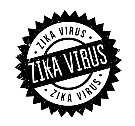 Zika Virus rubber stamp. Grunge design with dust scratches. Effects can be easily removed for a clean, crisp look. Color is easily changed. Illustration