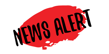 News Alert rubber stamp. Grunge design with dust scratches. Effects can be easily removed for a clean, crisp look. Color is easily changed. Stock Vector - 88760028
