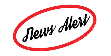 News Alert rubber stamp. Grunge design with dust scratches. Effects can be easily removed for a clean, crisp look. Color is easily changed.
