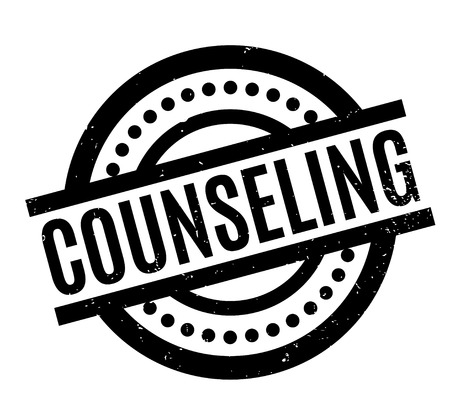 Counseling rubber stamp. Grunge design with dust scratches. Effects can be easily removed for a clean, crisp look. Color is easily changed. Illustration