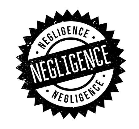 Negligence rubber stamp. Grunge design with dust scratches. Effects can be easily removed for a clean, crisp look. Color is easily changed. Stock Vector - 88799014