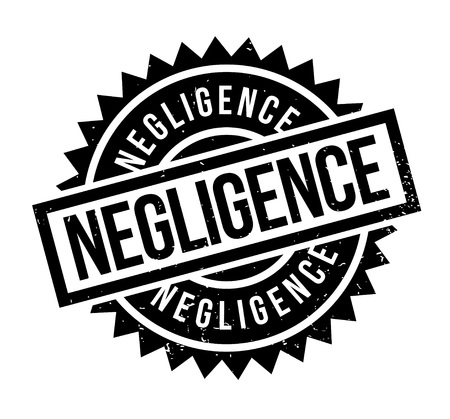 Negligence rubber stamp. Grunge design with dust scratches. Effects can be easily removed for a clean, crisp look. Color is easily changed. Stock Vector - 88800618