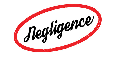 Negligence rubber stamp. Grunge design with dust scratches. Effects can be easily removed for a clean, crisp look. Color is easily changed. Stock Vector - 88802436