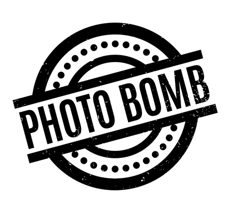 Photo Bomb rubber stamp. Grunge design with dust scratches. Effects can be easily removed for a clean, crisp look. Color is easily changed. Illustration