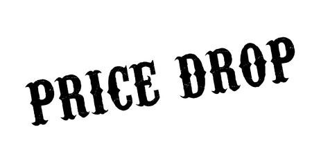 Price Drop rubber stamp. Grunge design with dust scratches. Effects can be easily removed for a clean, crisp look. Color is easily changed.