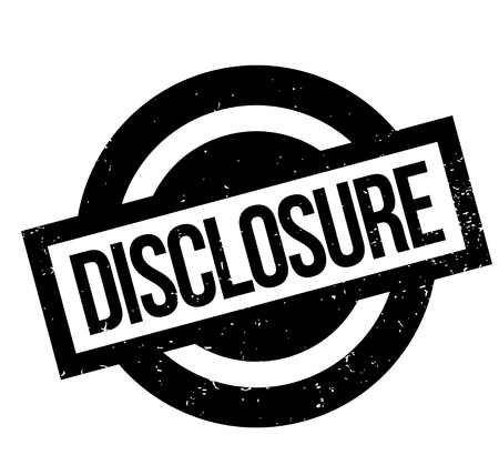 Disclosure rubber stamp. Grunge design with dust scratches. Effects can be easily removed for a clean, crisp look. Color is easily changed. Illustration