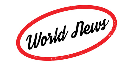 World News rubber stamp. Grunge design with dust scratches. Effects can be easily removed for a clean, crisp look. Color is easily changed.