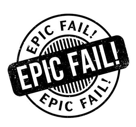 Epic Fail rubber stamp. Grunge design with dust scratches. Effects can be easily removed for a clean, crisp look. Color is easily changed. Illustration