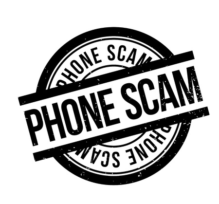 Phone Scam rubber stamp. Grunge design with dust scratches. Effects can be easily removed for a clean, crisp look. Color is easily changed. Illusztráció