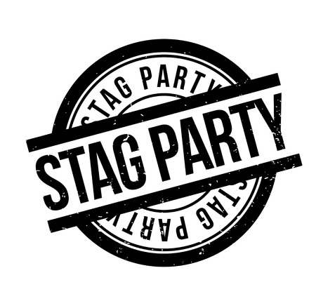 Stag Party rubber stamp. Grunge design with dust scratches. Effects can be easily removed for a clean, crisp look. Color is easily changed.