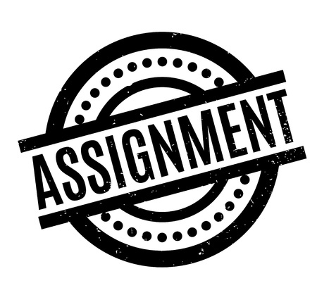 uni: Assignment rubber stamp. Grunge design with dust scratches. Effects can be easily removed for a clean, crisp look. Color is easily changed.