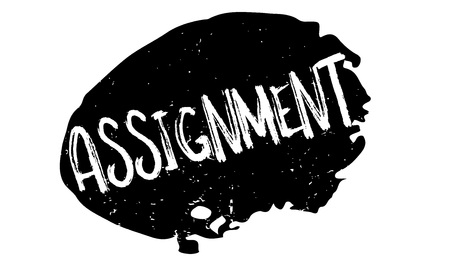 Assignment rubber stamp. Grunge design with dust scratches. Effects can be easily removed for a clean, crisp look. Color is easily changed. Векторная Иллюстрация